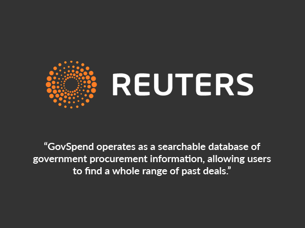 Reuters - GovSpend operates as a searchable database of government procurement information, allowing users to find a whole range of past deals.